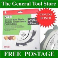 BOSCH CIRCULAR SAW BLADE 12 TEETH 190 MM 30 MM BORE  FITS PKS 66 DW365 DW65